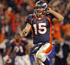 Tim Tebow touchdown pass
